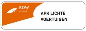 APK-keuring sticker lichte voertuigen